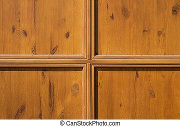 Brown wooden door surface texture