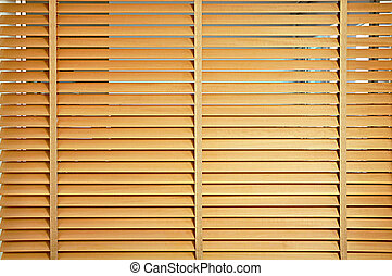 Brown wooden jalousie - Wood curtain or jalousie