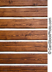 Brown wooden logs wall texture