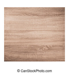 Brown wooden texture background isolated on white background.