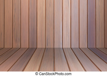 Brown wooden wall interior background