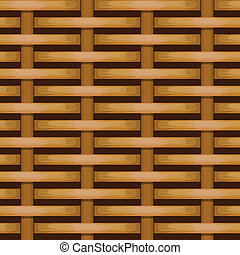 vector woven wicker rail fence seamless background