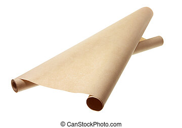 Brown Wrapping Paper on White Background
