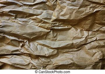Brown Wrinkled Kraft Paper - A wrinkled brown kraft paper ...