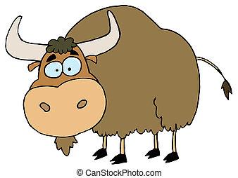 Brown Yak - Cartoon Character Animal Yak