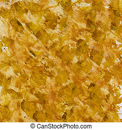 brown yellow splashes on canvas