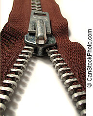 zipper - brown zipper