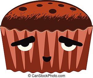 Brownie cake design - Tasty brownie cake illustration on...