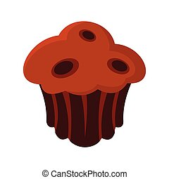 Brownie colorful bakery product icon. Vector illustration of...