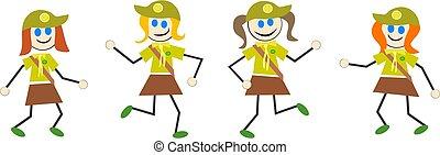 brownie kids - girl guides or brownies