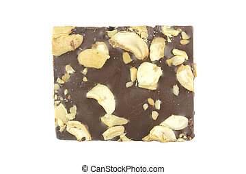 Brownie on white background