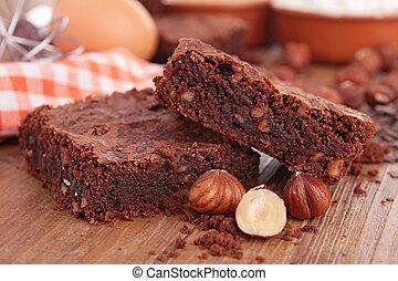 brownies and ingredients