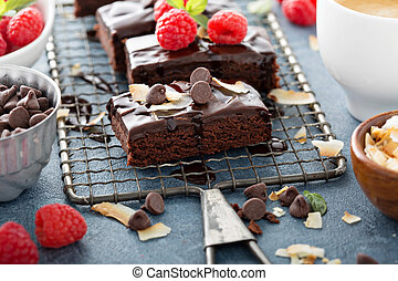 Brownies on a cooling rack