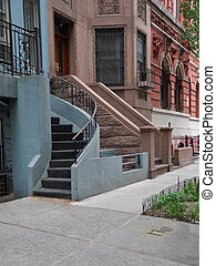 Brownstone Steps Sidewalk