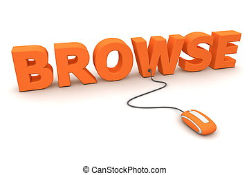Browse Around - Orange Mouse