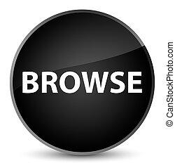Browse elegant black round button