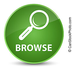 Browse elegant soft green round button