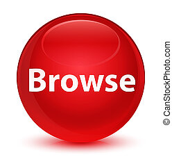Browse glassy red round button