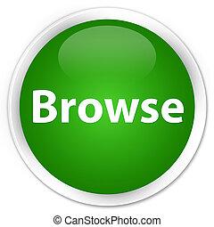 Browse premium green round button