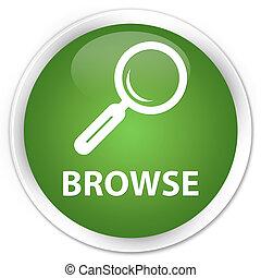 Browse premium soft green round button