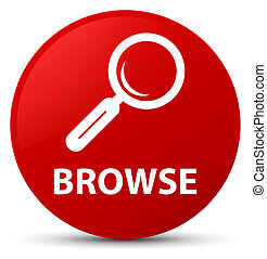 Browse red round button