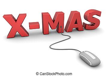 Browse Red X-Mas - Grey Mouse - modern grey computer mouse...