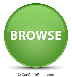Browse special soft green round button