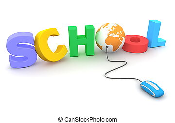 Browse the Colourful Jumbled School - Orange Globe