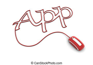 Browse the Glossy Red App Cable