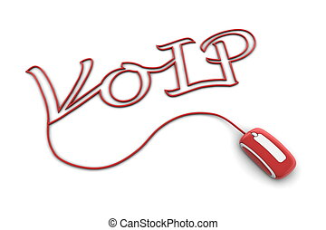 Browse the Glossy Red VoIP Cable
