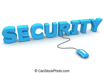 Browse with Security - Blue Mouse - modern blue computer...