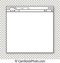 browser, dein, template., ihm, fenster, geöffnet, zufriedene , vergangenheit
