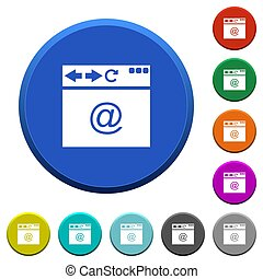 Browser email beveled buttons