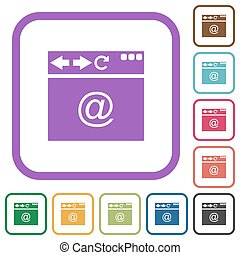 Browser email simple icons