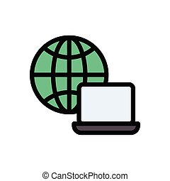 browser  flat color icon