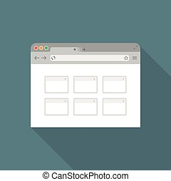Browser flat icon2