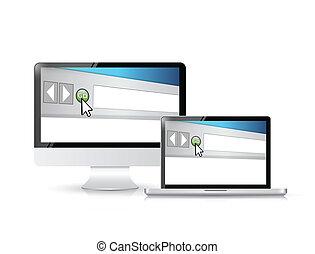browser internet, finestra, su, uno, schermo calcolatore