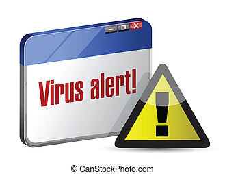 browser internet virus alert. illustration design