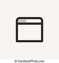 browser outline icon