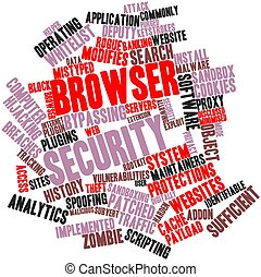 Browser security - Abstract word cloud for Browser security...