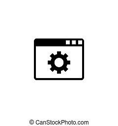 Browser Setup Flat Vector Icon
