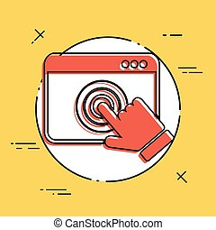 Browser touch - Vector flat minimal icon