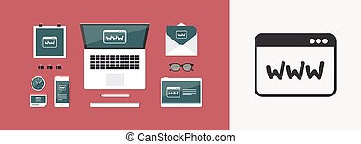 Browser web - Vector flat minimal icon