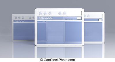 Browser Windows - 3D rendered Illustration