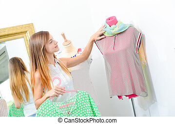 Browsing in a clothes shop