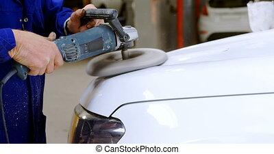 broyeur, polissage, mécanicien voiture, 4k