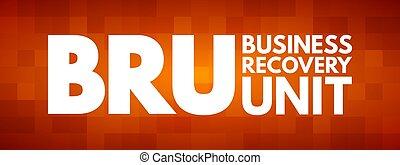 bru, business, acronyme, récupération, -, unité