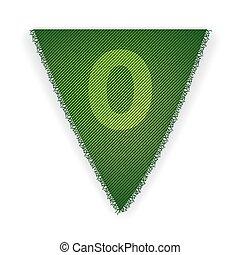 bruant, 0, drapeau, nombre