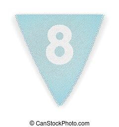 bruant, 8, drapeau, nombre
