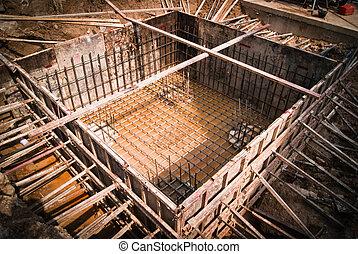 bruant, construction, base